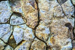 Stone texture vein of igneous rock in the Background. Blue vein magma tic quartz rock close up stock images