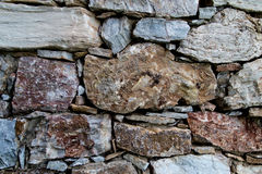 Stone texture in wall construction Royalty Free Stock Photos