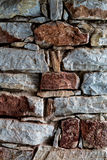Stone texture in wall construction Royalty Free Stock Photo