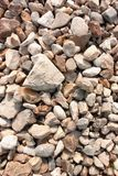 Stone texture, white light rock surface, pebble pattern, small gravel backdrop, abstract background, wallpaper. Empty template stock images