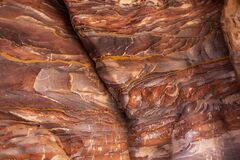 Free Stone Texture With Red Colours In Petra Stock Images - 181919064