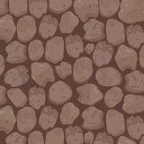 Stone Textured Background in Cinnamon Brown Tone. This domestic round edged Stones background is a beautiful blend of Cinnamon brown undertone perfect for Royalty Free Stock Image