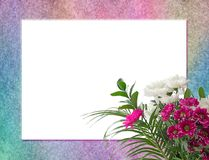 Floral Bouquet and multicoloured border royalty free stock images