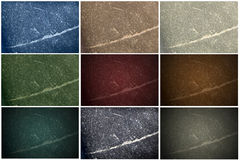 9 Stone Textures. In different colors, shades and blend Royalty Free Stock Images