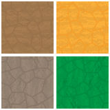 Stone textures set. Four stone backrounds different colors  on white Stock Photos