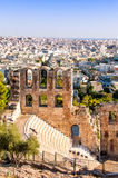 Stone theatre Odeon of Herodes Atticus in Athens, Greece Stock Image