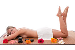 Stone therapy at spa. Royalty Free Stock Photos