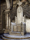 Stone throne with skulls Royalty Free Stock Photo