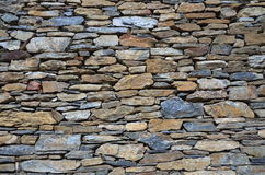 Stone tile brick wall texture Stock Images