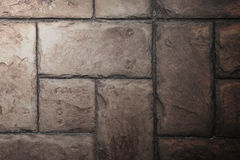 Stone Tile Cement Brick Wall Background Texture with Lighting fr Royalty Free Stock Photography