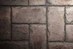 Stone Tile Cement Brick Wall Background Texture with Lighting fr. Om Above side Stock Images