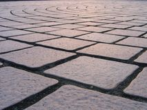 Stone Tile Pattern. Made of four-cornered slabs Royalty Free Stock Image