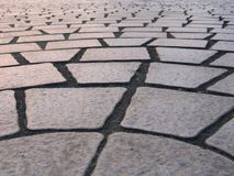 Stone Tile Pattern. Made of four-cornered slabs Royalty Free Stock Photography