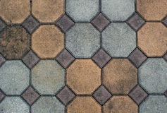 Stone tile pavement Stock Image
