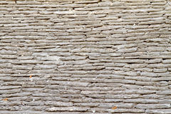 Stone Tile Roof Pattern Stock Photo