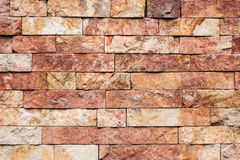 Stone tile texture. On a newly built house Royalty Free Stock Images