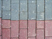Stone tile of two different colors. stock photo