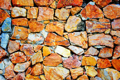 Stone tile wall. Rock tile wall on the shadow Stock Photography