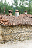 Stone-tiled architecture of the Balkans in Bulgaria Stock Photo