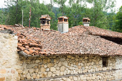 Stone-tiled architecture of the Balkans in Bulgaria Royalty Free Stock Photo