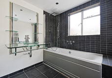 Stone tiled bathroom Stock Photos