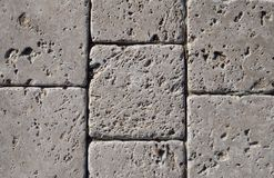 Stone tiled floor Royalty Free Stock Photos