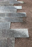 Stone tiled road Royalty Free Stock Photography