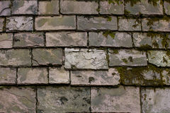 Stone tiles on the roof of a house Stock Photos