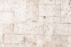Stone tiling on the wall, detailed background texture Stock Image