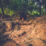 Stone tomb in Angkor, Siem Reap, Cambodia. Royalty Free Stock Photos