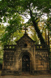 Stone tomb on Olsany Cemetery in Prague Royalty Free Stock Image