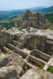 Stone tombs.The ancient Thracian city of Perperikon Stock Photo