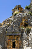 Stone tombs of myra Royalty Free Stock Image