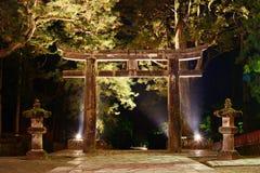 Stone Tori Gate in Nikko, Japan. Royalty Free Stock Image