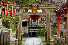 Stone Torii Gate Stock Photo