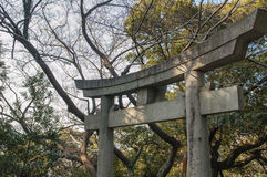 Stone Torii Gate Royalty Free Stock Photography