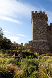 Stone Tower. A tower made of stone that is part of a castle Stock Images