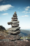 Stone tower. Big hand-made stone tower in Norway Stock Images