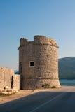 Stone tower. In small medieval town near Ston - Mali Ston, Croatia Stock Image