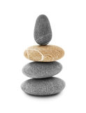 Stone tower. On white background Royalty Free Stock Images
