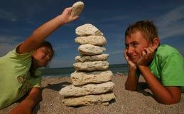 Stone tower Stock Image