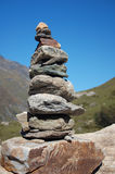 Stone Tower in the Alps. Zen-like Stone Tower in the Austrian Alps Stock Image