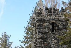 Stone tower. In Angeles National Forest, Big Pines CA Royalty Free Stock Photos