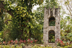 Stone Tower with Arches in Tropical Jungle Royalty Free Stock Photography