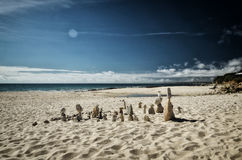 Stone tower on the beach, zen image Royalty Free Stock Photos