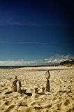 Stone tower on the beach, zen image Royalty Free Stock Images