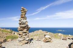Stone tower. In Cap de Creus, Costa Brava, Spain Royalty Free Stock Images