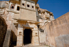 Stone tower of Chitaurgarh fortress in India. UNESCO World Heritage Site Stock Photos