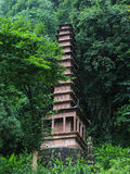 The stone tower in fish shoal grooves,sichuan,china Stock Images