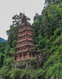 The stone tower in fish shoal grooves,sichuan,china Stock Photo